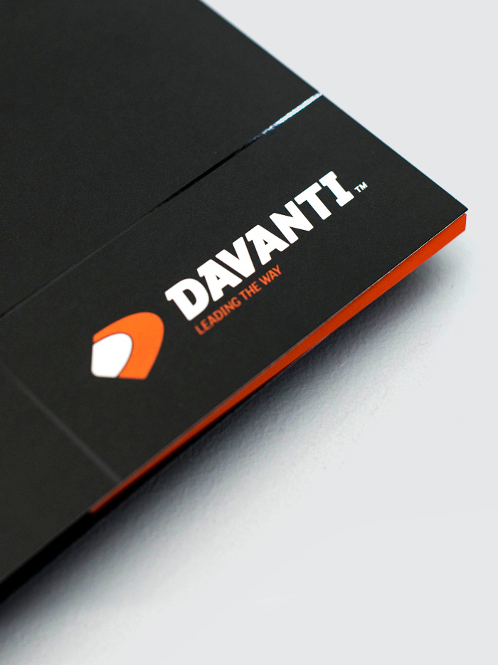 Davanti branding and launch, by freelance graphic designer Chris Nixon