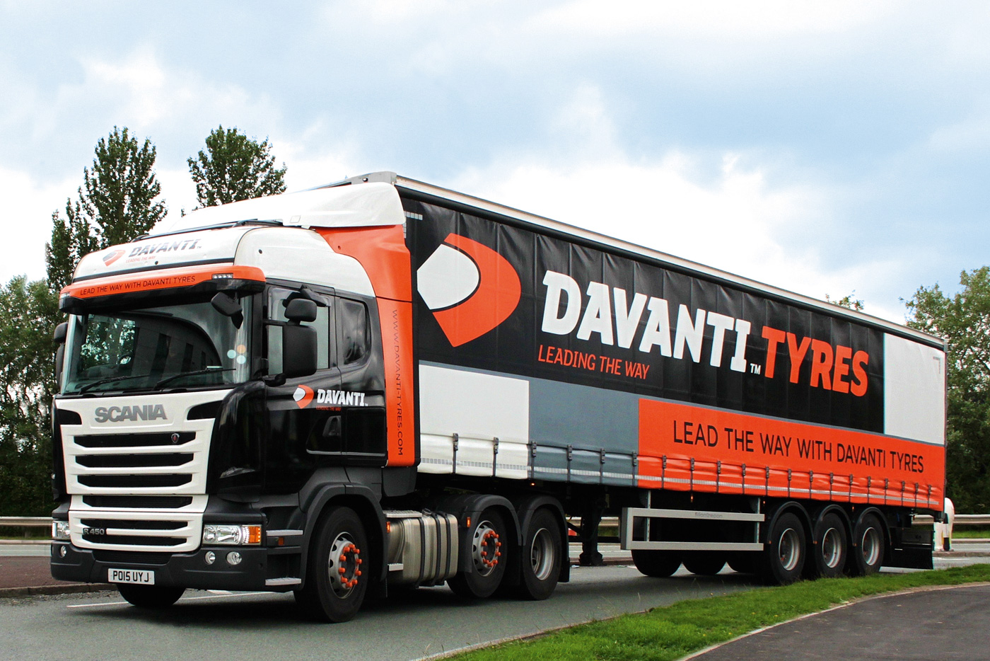 Davanti branding and fleet design, by freelance graphic designer Chris Nixon
