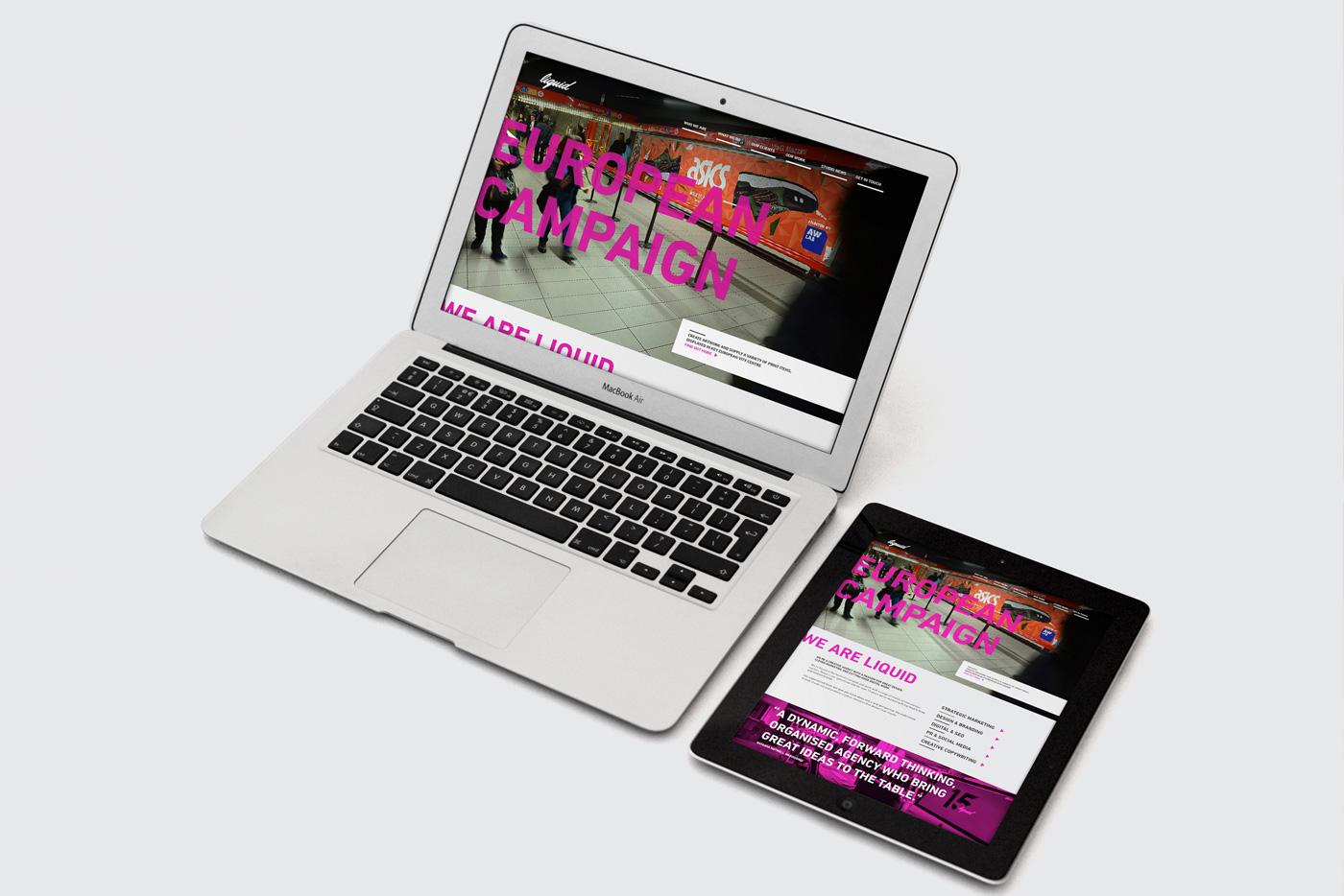 Liquid Rebrand - Web Design